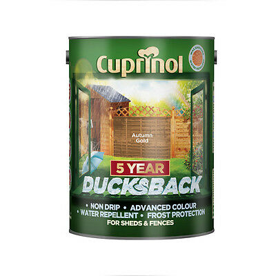 Cuprinol 5 Year Ducksback Shed & Fence Autumn Gold Paint Stain 5 Litres 5111363