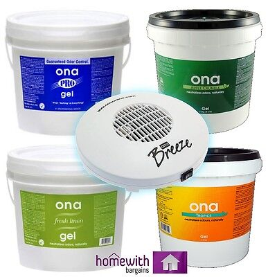 ONA GEL Air Odour Control Smell Eliminator ALL SCENTS Hydroponics 500ml 1L 4L 20