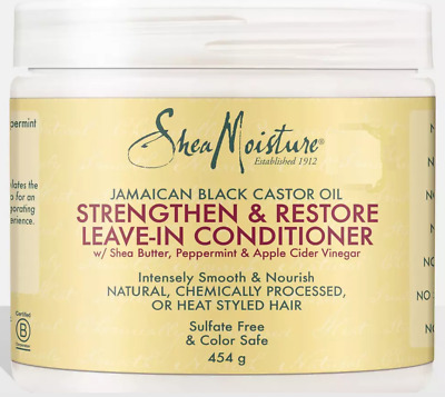 Shea Moisture Jamaican Black Castor Oil Strengthen Leave-In Conditioner 16oz