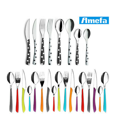 Amefa Eclat  24 Piece Stainless Steel Cutlery Set Stylish Table Dinning