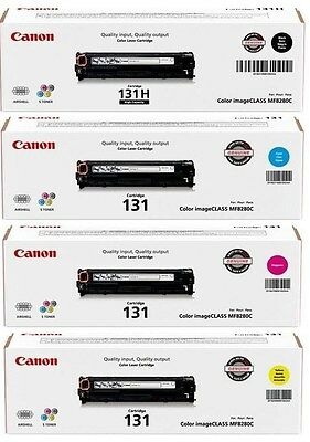 2 Sets (8 Toners) Genuine Virgin Empty Canon 131 Toner Cartridges All Clrs KCMY