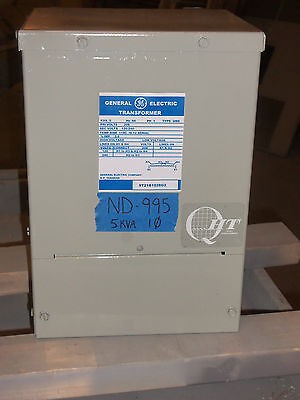 GE 5kva TRANSFORMER 1 SINGLE PHASE 208v-120v/240v DELTA WALL MT 3R