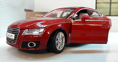 G LGB 1:24 Scale Audi A7 2.8 V6 FSi Coupe Working Lights Sound Diecast Model Car