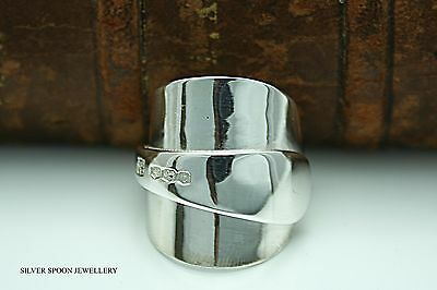 Chunky Solid Sterling Silver Spoon Ring 1936 -Size S