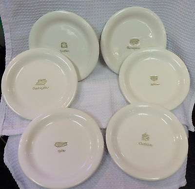 Williams Sonoma Set Of 6 Cheese Plates Appetizer Dessert Snack Very Nice! & WILLIAMS SONOMA Appetizer Plates Cheese series Embossed set of 6 ...