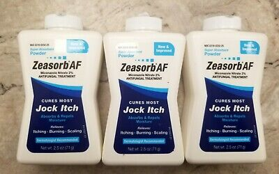 Zeasorb Antifungal Powder Jock Itch, etc  2.5oz  ( 3 pack ) Red