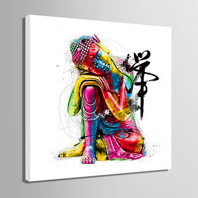 Wood Framed Canvas Print Wall Art Pictures Home Decoration Buddha Paintings