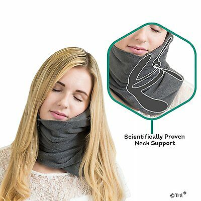 Pillow Scientifically Proven Super Soft Trtl Neck Support Travel Pillow *Grey*