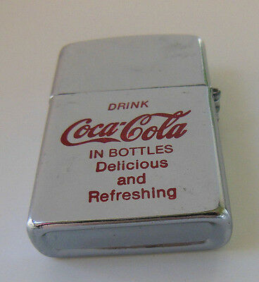 """Coca-Cola Lighter """"Drink Coca-Cola IN BOTTLES Delicious and Refreshing"""""""