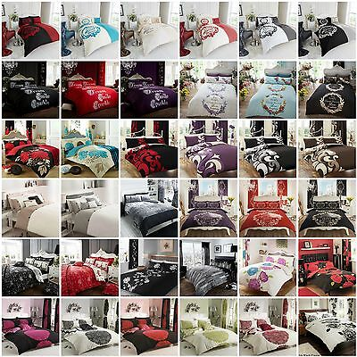 ** Clearance Sale * New Duvet Quilt Cover With Pillow Case Bedding Set All Sizes