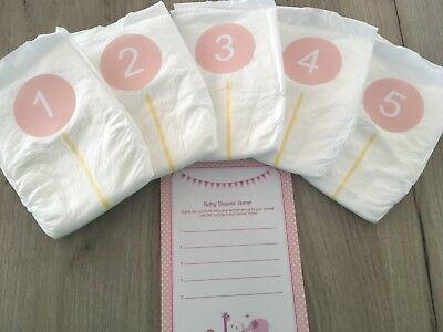 Dirty/Sniff  Nappy/Diaper Game Pink Girl Baby Shower Game(s) 10, 20 or 30 player