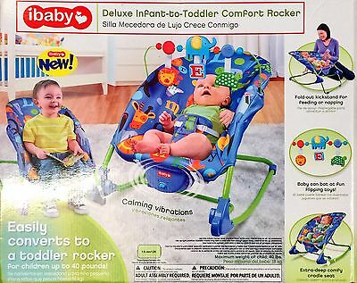 Extra Deep Deluxe Infant-To-Toddler Comfort Bouncer Rocker Calming Vibration