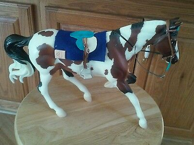 Breyer Stone horse custom race horse saddle bridle pad