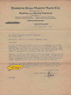 Herring-Hall-Marvin Safe Company - June 1929 - Company Correspondence