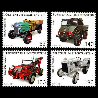"Liechtenstein 2015 - Collections ""Commercial Vehicles"" Cars Tractor Truck - MNH"