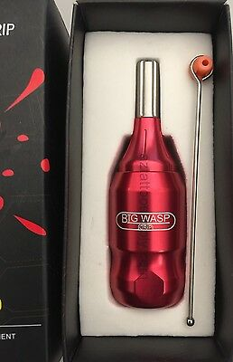 BIG WASP fully adjustable tattoo machine cartridge grip in RED