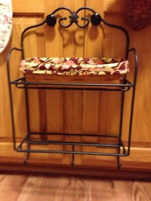 Longaberger Wrought Iron Envelope Rack with 2 Shelves and 3 Hooks - EUC