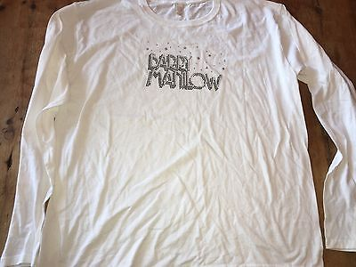 Barry Manilow Large 2X Shirt Singer Tour Of The World  Rock Women's L/S