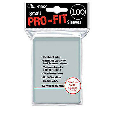 1000 10pk Ultra Pro Small Mini Perfect Pro-Fit Inner Card Sleeves Deck Protector