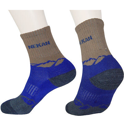 3 / 6 Pairs Womens Blue Lightweight Sports Outdoor Camping Trekking Hiking SOCKS