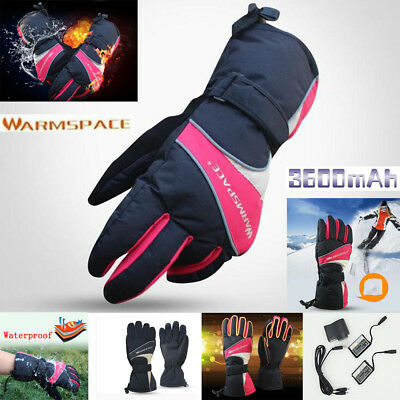 Electric Full Hand Heated Warmer Gloves 3600mAh Battery Power Motorcycle Outdoor