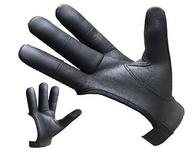 Archers Leather Shooting 4 Finger Glove Black & Chocolate Brown