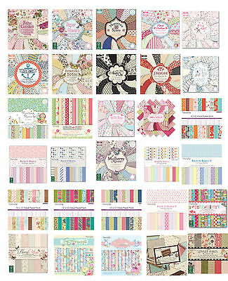 SCRAPBOOKING PAPER SAMPLE 12X12  Dovecraft/First Edition/Grace Taylor/Santoro