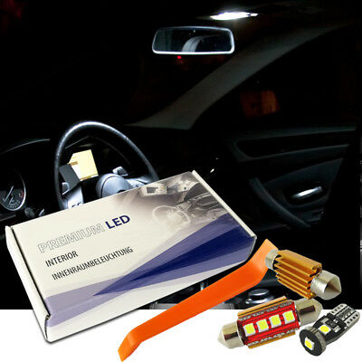 BMW 5er F10 Premium LED Innenraumbeleuchtung Set Weiß 21 SMD Canbus F18