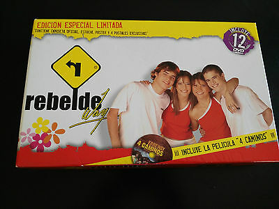 Rbd Rebelde Way Fan Box 11 Dvd + Cuatro Caminos + Estuche Unico Ebay
