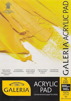 Winsor & Newton Galeria Acrylic Paper Pad 300g A3. For Artists Acrylic Painting
