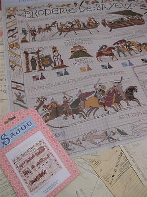 Sajou Museum & Heritage Cross Stitch Chart- The Bayeux Tapestry