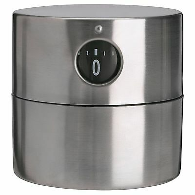 Ikea ORDNING Stainless Steel Mechanical Wind-Up Kitchen Timer 6 x 6 cm