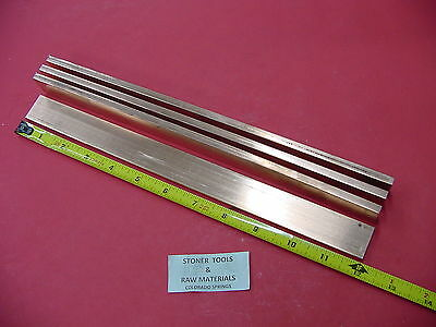 "4 pieces 1/4""x 1"" C110 COPPER BAR 12"" long Solid Flat Bar Mill Bus Bar Stock H02"