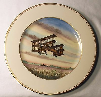 The Avroplane 1909 Aviation Collector Plate, Artist Charles H. Hubbell