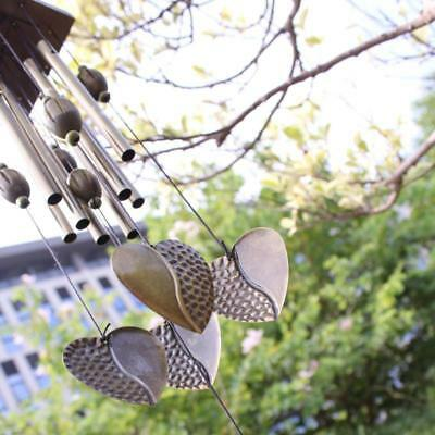 Cuore Decor Windchimes Wind Chime metallo 8 tubi Hanging Ornament Garden