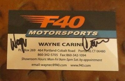 Wayne Carini Velocity Chasing Classic Cars signed autographed business card