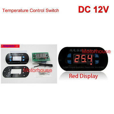 Red Panel New LED Embeded DC12v Thermostat Detect Temperature Controller Switch