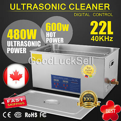 22L Liter Industry Stainless Steel Heated 22L Ultrasonic Cleaner Heater w/Timer