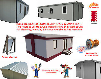 2 bedroom 36m2 Insulted Expandable Folding Granny Flat  DISCOUNTED DISPLAY UNIT/