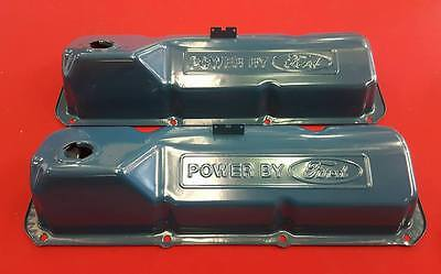 Power By Ford Rocker Valve Cover Pair Suit Cleveland Xw Xy Early Xa 302 351 393
