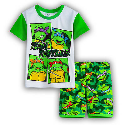 new kids baby Boys TMNT Ninja Turtle summer pyjama pjs cotton size 1-6 sleepware