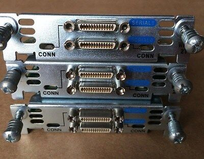 3x Cisco WIC-2T (2-Port Serial WAN Interface Card) Cisco WIC 2T for CCNA CCIE