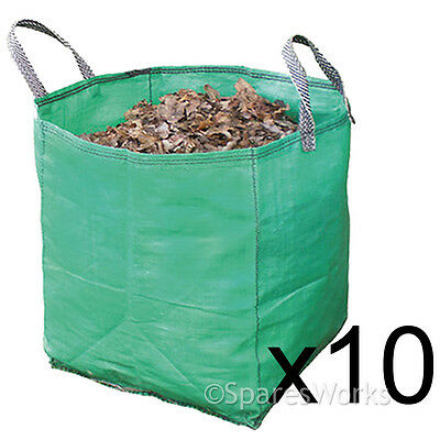 10 Large Garden Waste Recycling Tip Bags Heavy Duty Non Tear Woven Plastic Sack