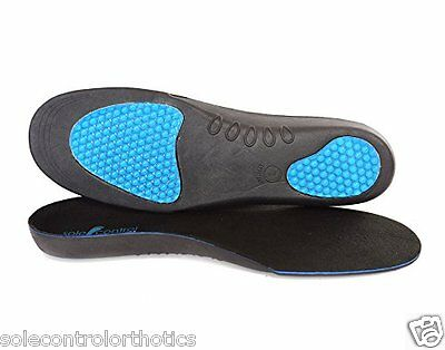Sole Control Ultra Orthotic Insoles Arch Support, Gel Heel Pad metatarsal pad