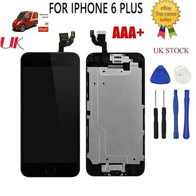 For iPhone 6 Plus Screen LCD Replacement Black Touch Display Home Button Camera