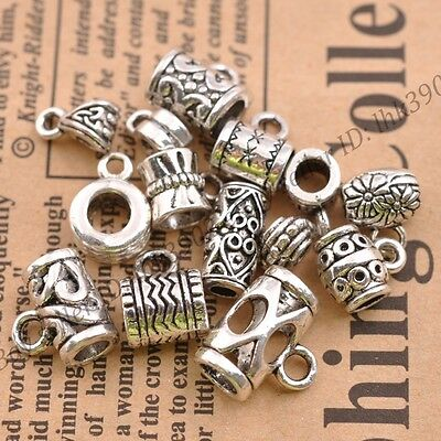 10/20pcs Tibetan Silver Tone Mixed Cup Connectors Bails DIY Jewelry Findings