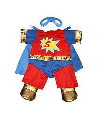 "'Superman' Teddy outfit / clothes to fit 15""/16"" build a bear factory"