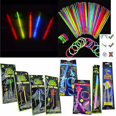 Neon Colours Glow Sticks Birthday Party Loot Bag Fillers Favours Necklace Disco