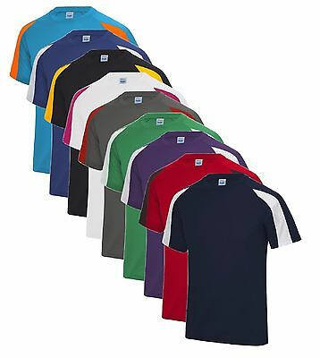 Breathable Polyester Performance Athletic Contrast Cool TShirt Wicking Tee Shirt