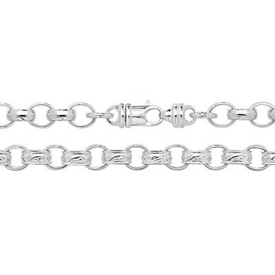 New Solid Sterling Silver.925 Heavy Plain & Patterned Belcher Chain 20,22,24, 30